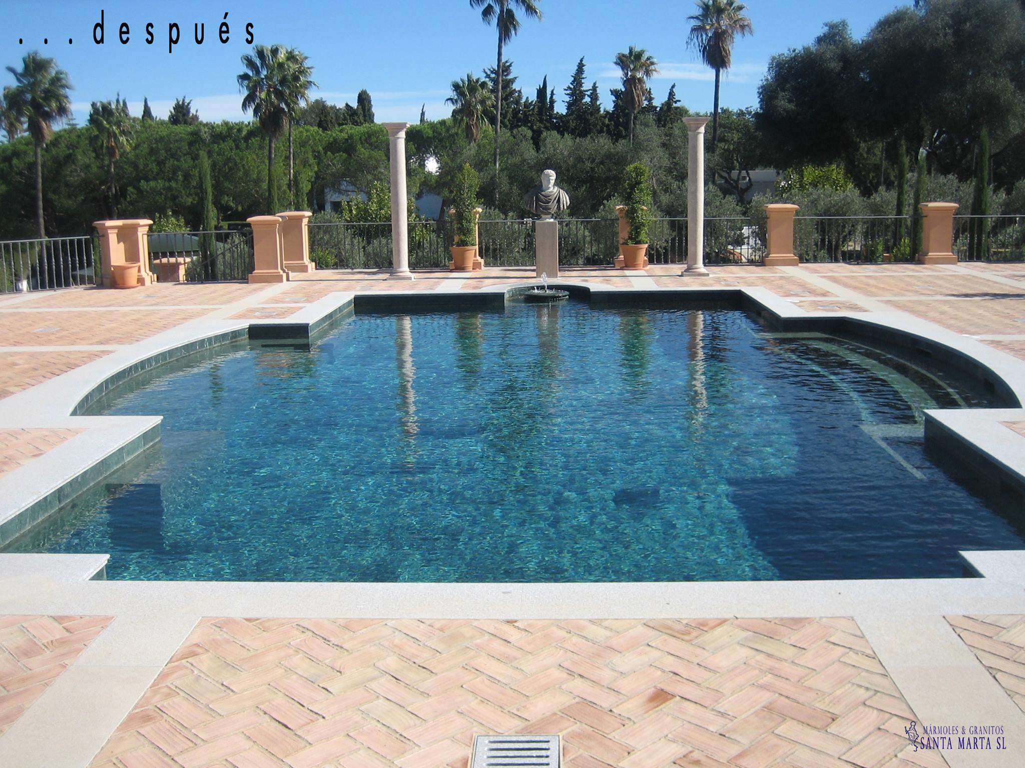 La elegancia del m rmol en las piscinas for Se hacen piscinas